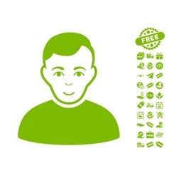 User Icon With Free Bonus vector image