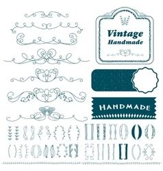 Vintage hand drawn divider lines set vector image