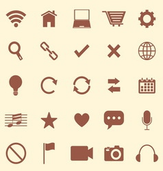 Web color icons on brown background vector image