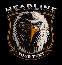 With head eagle vector