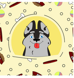 a dog in cartoon style vector image