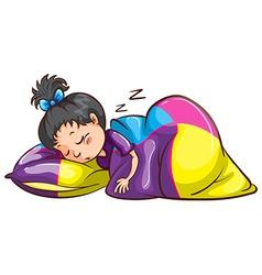A little girl sleeping soundly vector image