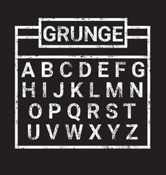 Alphabet grunge letters collection text lettering vector