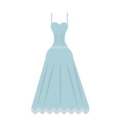 cute wedding dress icon vector image
