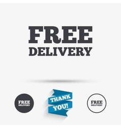 Free delivery sign icon Delivery button vector image vector image