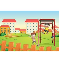 kids and monkey bar vector image vector image
