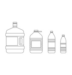line bottles for water vector image