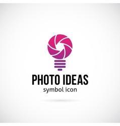 Photo Ideas Concept Symbol Icon or Logo Template vector image