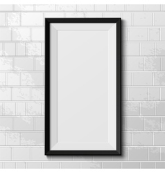 Realistic frame isolated on white background vector image vector image