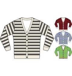 stripe sweatshirt template vector image