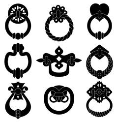 Door handle silhouettes vector image vector image