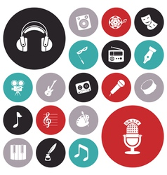 icons tiled art music sound vector image vector image