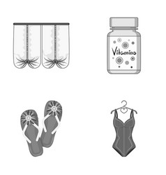 Medicine textiles business and other monochrome vector