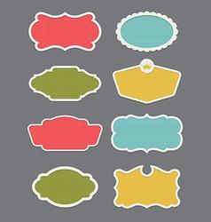 Set of 8 frame or label design elements vector image vector image