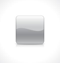 Square silver button vector image vector image