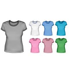woman shirts vector image