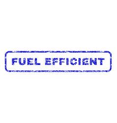Fuel efficient rubber stamp vector