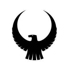 Graceful eagle with arched wings vector image vector image