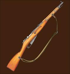 Realistic rifle vector image