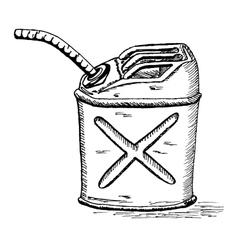 retro cartoon gas can vector image