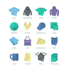Apparel and Personal Items Icons vector image vector image