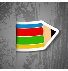 Creative pencil sticker vector image