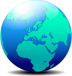Europe Globe World vector image