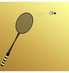 kick the shuttlecock vector image
