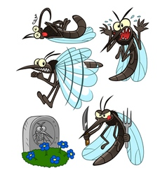 mosquito set vector image vector image