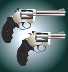 revolver weapon vector image vector image