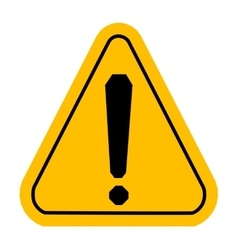 Warning icons in yellow triangle Exclamation vector image vector image