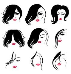 woman hair vector image vector image