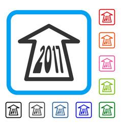 2017 ahead arrow framed icon vector image