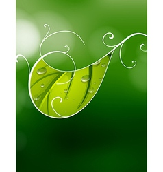 A green special paper vector image