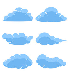 abstract cartoon icons blue clouds vector image
