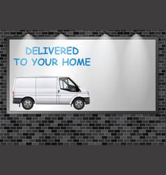 Advertising billboard home deliveries vector