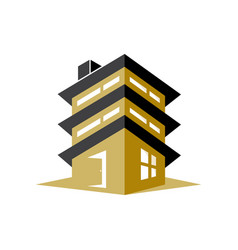 apartment building vector image
