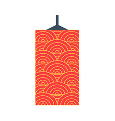 Asian paper lantern or lamp icon vector