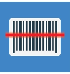 Barcode scanning icon vector image