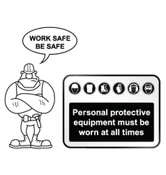 Black Health and Safety sign vector