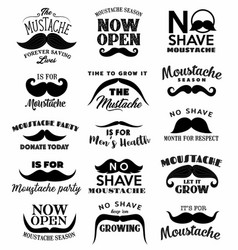 black moustaches november month men health vector image