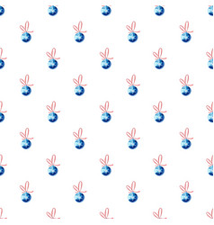 Blue christmas ball pattern vector