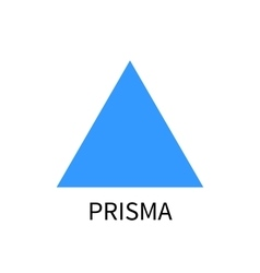 Blue prism logo template prisma sign on vector