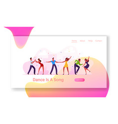 brazilian dance club party or carnival website vector image