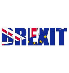 Brexit concept referendum on uk withdrawal vector