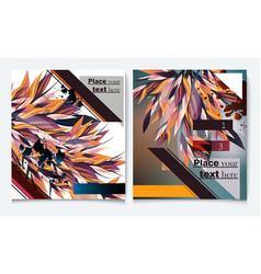 brochure flyer design template cover vector image