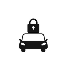car lock icon simple isolated black car lock vector image