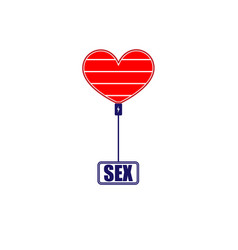 charge sex and love symbol vector image