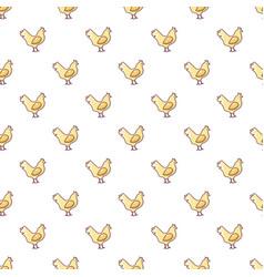 chicken pattern seamless vector image