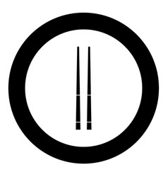 Chinese chopsticks icon black color in circle vector